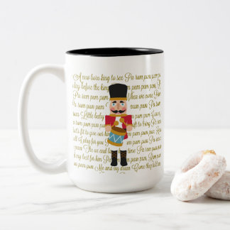 Gold Christmas Little Drummer Boy Two-Tone Coffee Mug