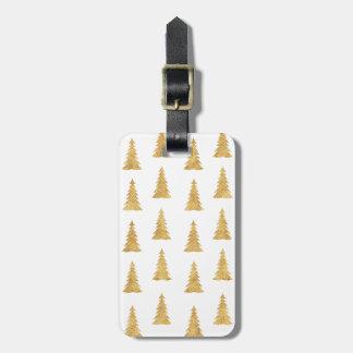 Gold Christmas Luggage Tag