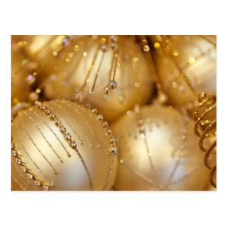 Gold Christmas Ornament Postcard