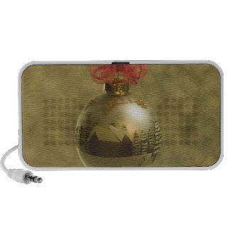 Gold Christmas ornament Mp3 Speakers
