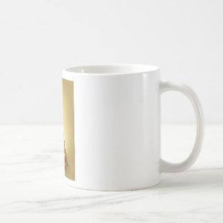 Gold Christmas present tree Illustration Coffee Mug