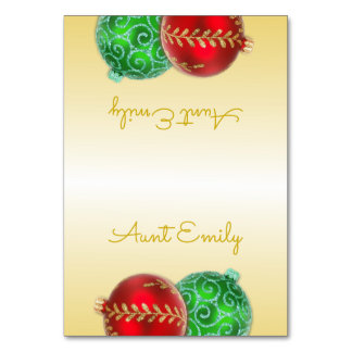 Gold Christmas Tented Place Cards