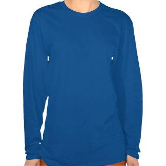 Gold Christmas Tree Blue Long Sleeves Shirt