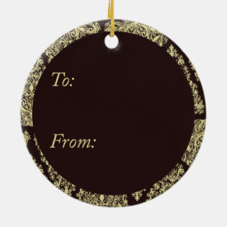 Gold Christmas Tree Circle Ornament
