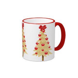 Gold Christmas Tree Coffee Mug