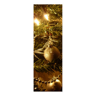 Gold Christmas Tree Ornaments Bookmark Business Card Templates
