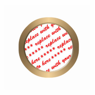 Gold Circle Photo Frame Template Photo Sculptures