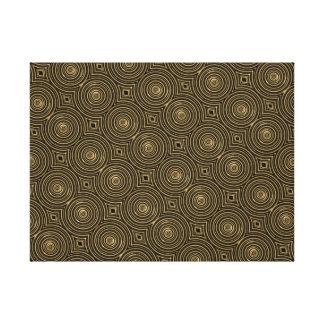 Gold circles art print