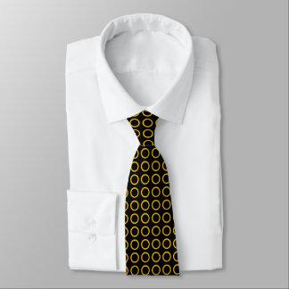 Gold Circles Black Tie