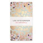 Gold Circles & Colourful Confetti Beauty Salon Fun Pack Of Standard Business Cards