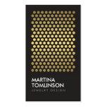 Gold Circles on Black Designer Business Card