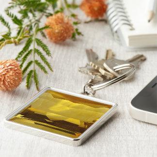 Gold Citrine Key Ring