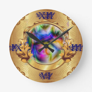 gold clock framed magic crystal ball swirl