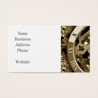 Gold Clocks and Gears Steampunk Mechanical Gifts Business Card