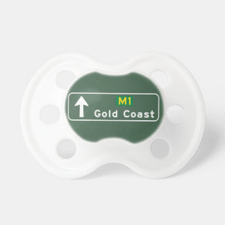 Gold Coast, Australia Road Sign Baby Pacifiers