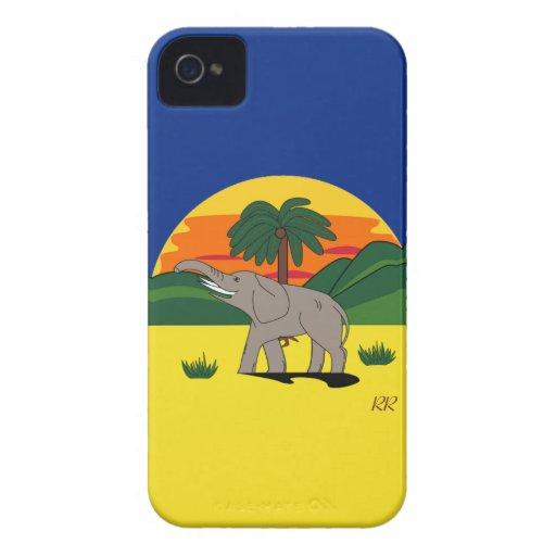 Gold Coast Elephant and Palm Tree Blackberry Bold Blackberry Bold Cover