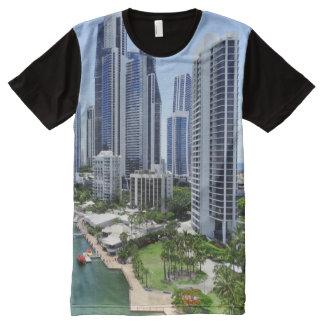 Gold Coast Queensland Skyline All-Over Print T-Shirt
