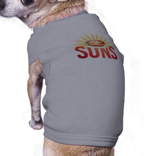Gold Coast Suns Dog Jumper.jpg Dog Tee Shirt