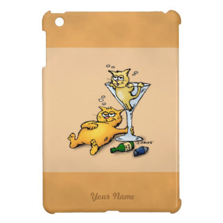 Gold Cocktails and Kittens iPad Mini Case