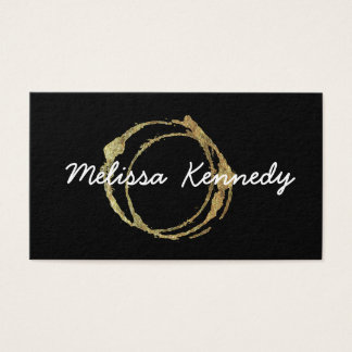 Gold Coffee Shop Business Cards Cup Stains Black