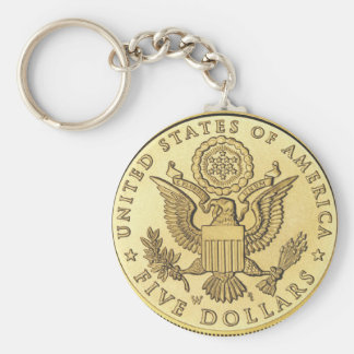 Gold Coin Key Ring
