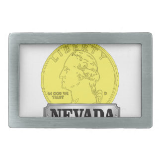 Gold Coin of Nevada Belt Buckle