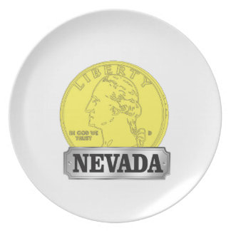 Gold Coin of Nevada Plate