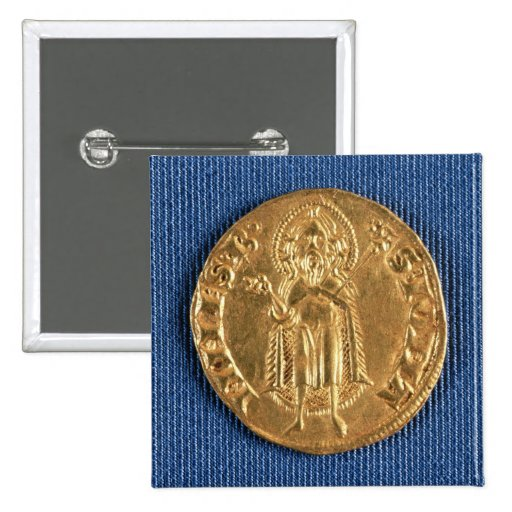 Gold coin, with St. John the Baptist, 16th century Button
