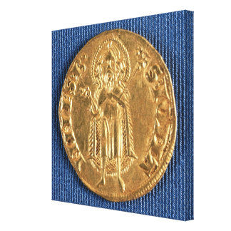 Gold coin, with St. John the Baptist, 16th century Canvas Print