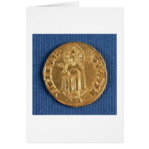 Gold coin, with St. John the Baptist, 16th century Card