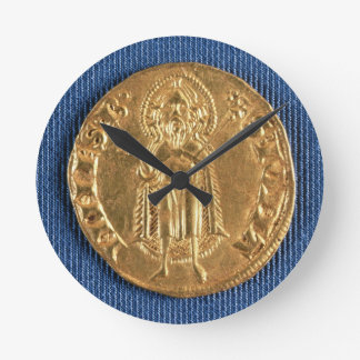 Gold coin, with St. John the Baptist, 16th century Wall Clock