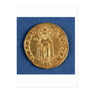 Gold coin, with St. John the Baptist, 16th century Postcard