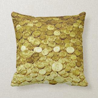 gold coins cushions