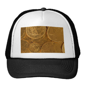 gold coins hat