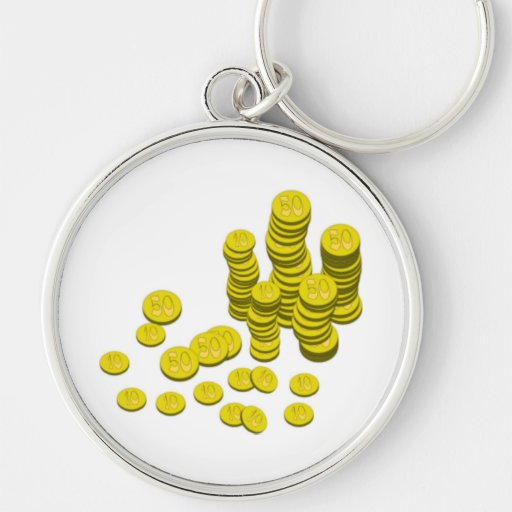 Gold Coins Key Chain