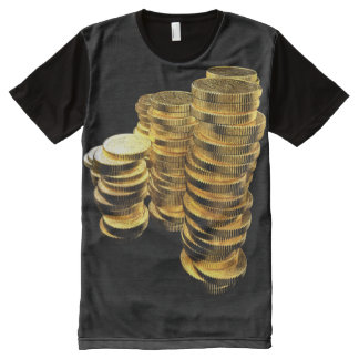 Gold Coins Pirates Gold All-Over Print T-Shirt