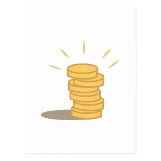 Gold Coins Postcard