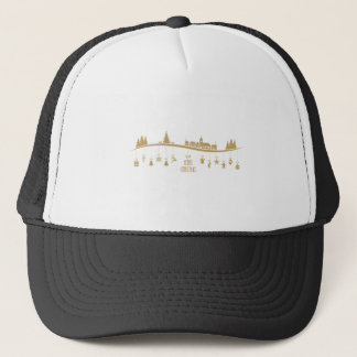 Gold color Elegant Merry Christmas Decoration Trucker Hat