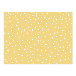 Gold Color with White Dots Pattern. Postcard