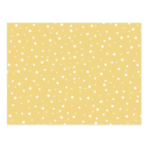 Gold Color with White Dots Pattern. Post Cards