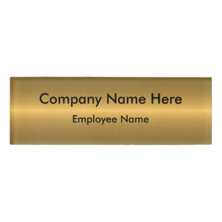 Gold Colored Name Tag