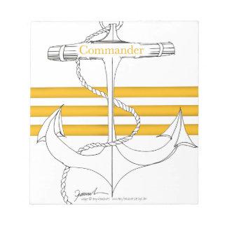 gold commander, tony fernandes notepad