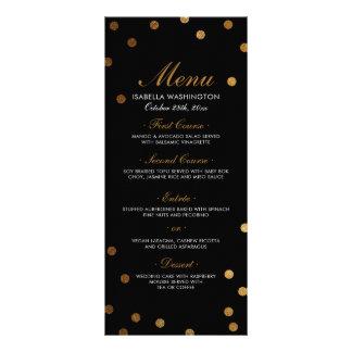 Gold Confetti & Black Surprise Party Menu
