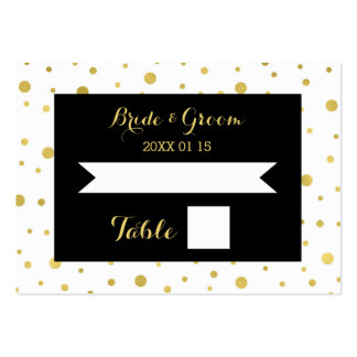Gold Confetti Black Wedding Table Place Card Pack Of Chubby Business Cards