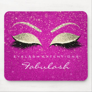 Gold Confetti Branding Beauty Hot Pink Lashes Mouse Pad