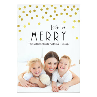Gold Confetti Christmas Card