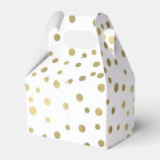 Gold Confetti Dots Favour Box