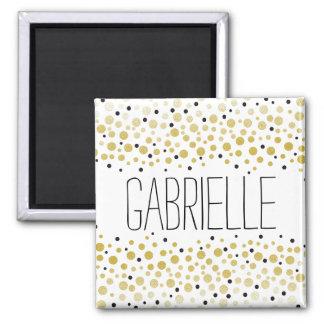 Gold Confetti Dots Magnet