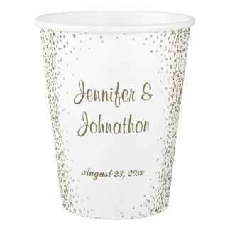 Gold Confetti Dots Wedding Reception