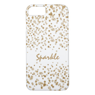Gold Confetti Glam Glitter Sparkle iPhone 8/7 Case